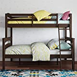 Product Image of the Dorel Living Brady Solid Wood Bunk Beds Twin Over Full with Ladder and Guard...