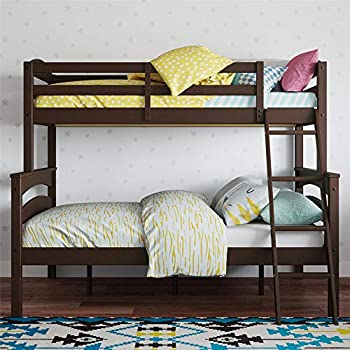 Dorel Living Espresso Twin over Bunk Bed