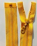 Grueso n.º 5 plástico moldeado cremallera extremo cerrado (amarillo (Buttercup – 111), 5.5 pulgadas – 14 cm (extremo cerrado)