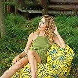 Aufblasbares Sofa Air Bett Wasserdichtes Luft Sofa Couch Luftsack Lazy Lounger mit Tragebeutel Portable Paket für Camping Garten Wandern Pool und Beach Parties