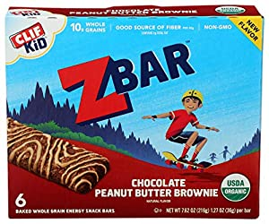 Clif, Bars Z Chocolate Peanut Butter Brownie, 1.27 Ounce, 6 Count