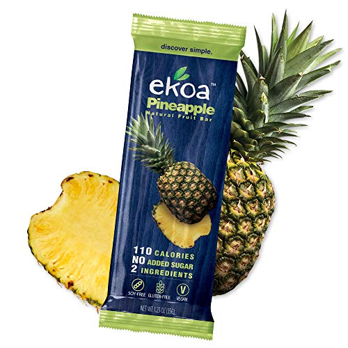 EKOA Dried Pineapple Fruit Bars - Kids Snacks - Vegan Snacks - Gluten Free Snacks - Low Calorie Snacks for Adults - Healthy Fruit Snacks For Kids - Paleo Snacks - Dried Fruit Snacks - 12 Pack