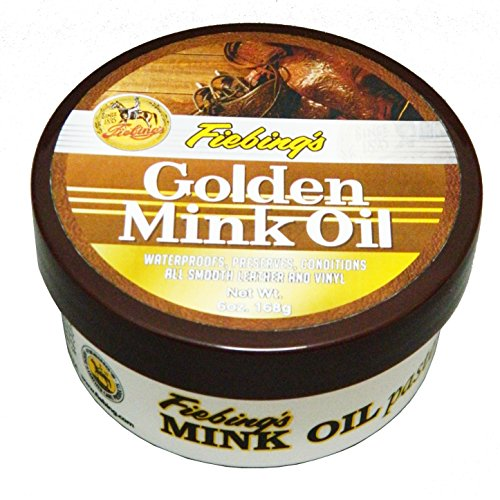 Fiebing's Golden Mink Oil Paste, 6 oz. - Soften, Preserves and Waterproofs Leather and Vinyl
