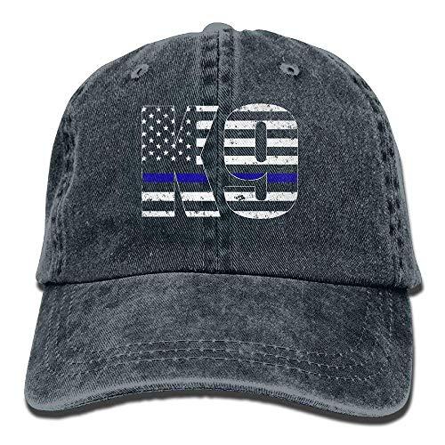 wwoman Police K9 Thin Blue Line Snapback algodón Sombrero Azul...