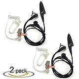 zeadio Covert - Auriculares de diadema con micrófono para Motorola MultiPin (2 unidades, 2 unidades)