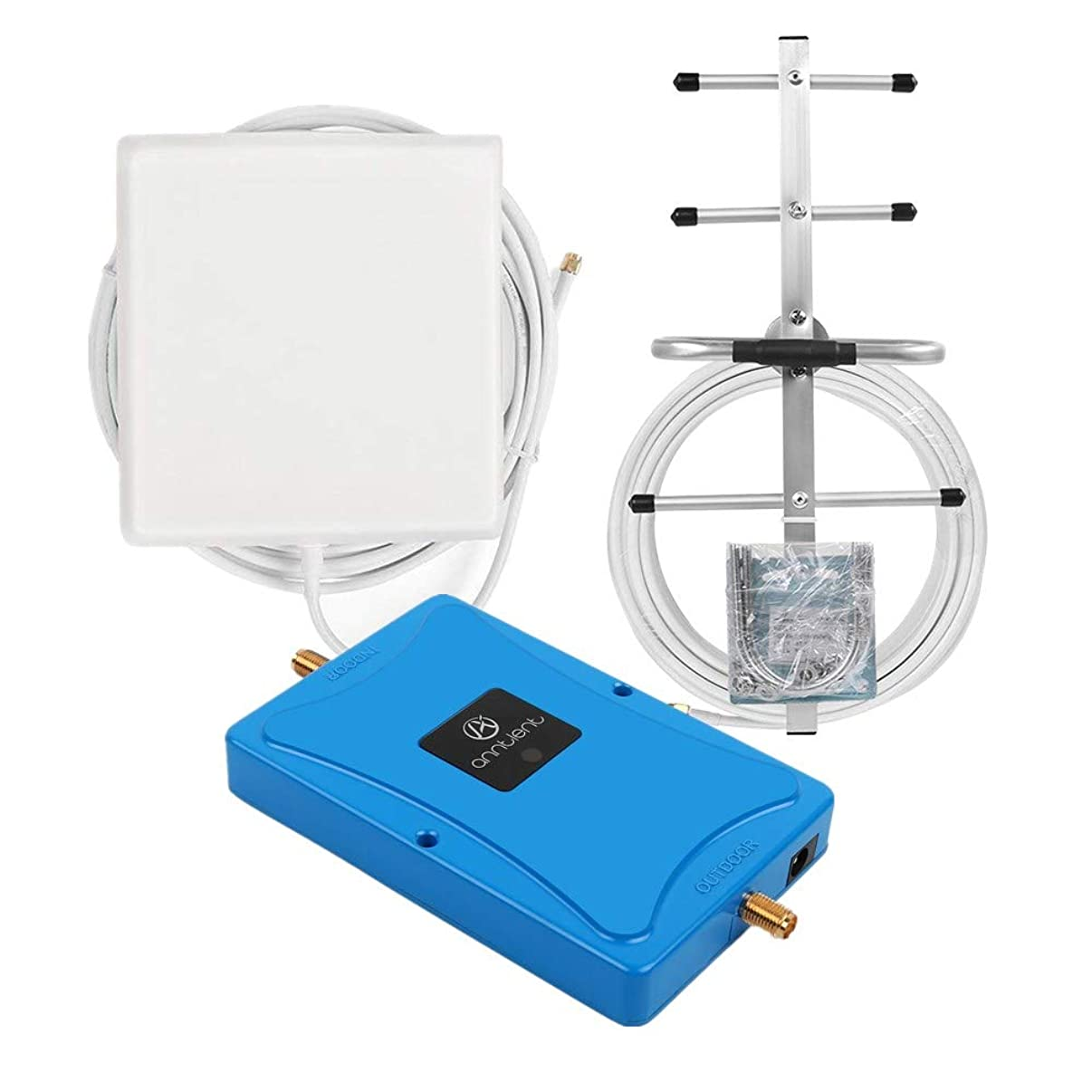 Verizon 4G LTE Cell Phone Signal Booster for Home and Office - Enhance Cellular Data Signal by 65dB 700MHz Band 13 Repeater and Panel/Yagi Antennas Extend Coverage Up to 4,000Sq Ft