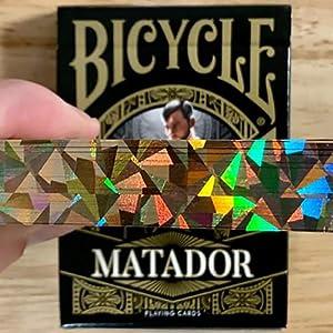 U.S.P.C.C. Bicycle Matador (Black Gilded) Playing Cards