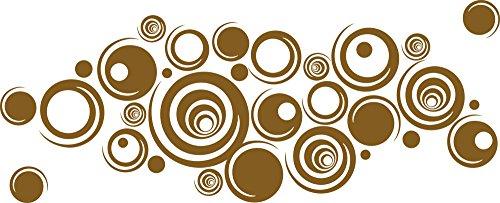 GRAZDesign Wandtattoo 60er Jahre Style Tattoo für Wohnzimmerwand Wandaufkleber als Wand-Dekoration (141x57cm//091 Gold)