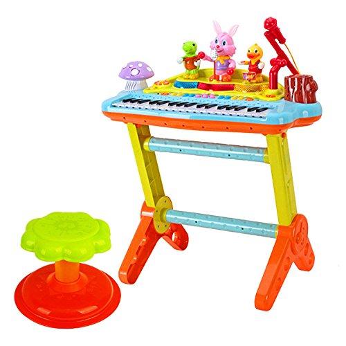 QXMEI Baby-Tastatur-Treffen Spielt Multifunktionsmikrofon-pädagogische Spielwaren Klavier-Gewicht 3.88Kg Kinderelektronisches Klavier
