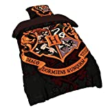 Elbenwald Harry Potter Bettwäsche Hogwarts Wappen 2tlg Deckenbezug 135x200cm Kissenbezug 80x80cm