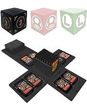 Funda para Almacenamiento de 16 Juegos, para Nintendo Switch Juegos de Nintendo Switch Organizador de Tarjeta de Juego Contenedor de Viaje (Z)