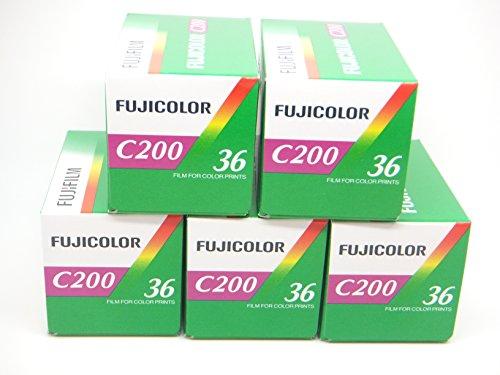 Fuji, C200, 35 mm, 36 Aufnahmen, 5 Stück