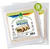 NUCO All Natural, Paleo, Gluten Free, Vegan Non-GMO, Kosher Raw Veggie NUCO Coconut Wraps Original Flavor. NO Salt Added Low Carb and Yeast Free 10 Count (Two Packs of Five Wraps Each)