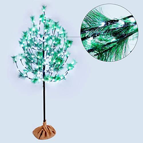 CCLIFE LED Kiefern Baum innen Außen Weihnachten Christbaum Lichterbaum warmweiss Kaltweiß Weihnachtsbeleuchtung, Farbe:Kaltweiß, Größe:180cm mit 160LEDs