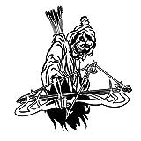 Tianpengyuanshuai Etiqueta engomada de la Caza Coche Caza Tiro cráneo Arco...