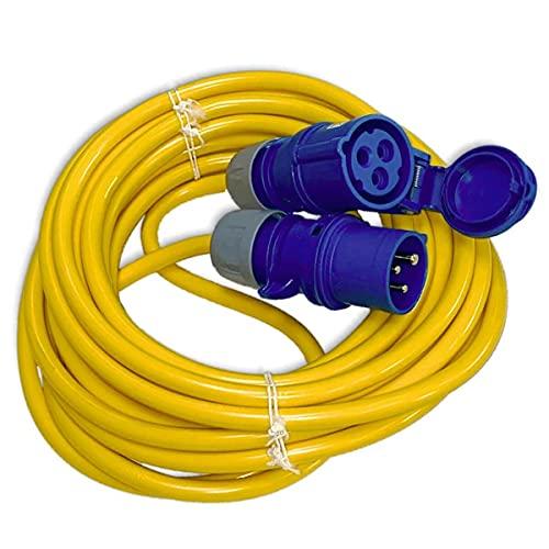 CEE Camping Kabel 10m Panzerkabel K35 AT-N07V3V3-F 3G2,5 IP44 3x2,5 mm 230V 16A IP44 - Verlängerungskabel gelb - Wohnmobil-Kabel Stecker Kupplung