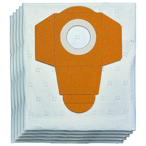 Einhell 2351190 Bolsas de fieltro para aspiradora en seco y húmedo (25 L, 5 unidades), 0 W, 0 V, Blanco, amarillo, 25 Liter, Set de 5 Piezas