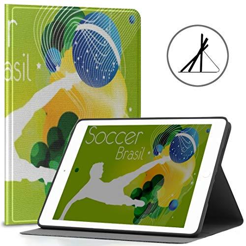 Ipad 9.7-Zoll-Abdeckung (Softcase) Soccer Poster Brasil Ipad Air 2/9,7-Zoll-Abdeckung mit automatischer Wake/Sleep-Funktion, geeignet für Ipad 9.7