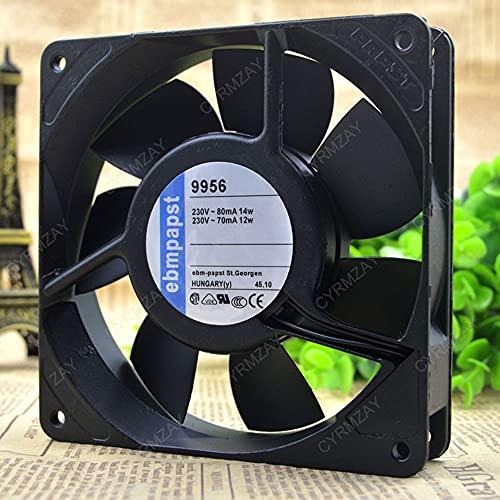 CYRMZAY Ventilador Compatible para ebmpapst TYP 9956 TYP9956 230V 2-Wire 12CM 12025 Cooling Ventilador