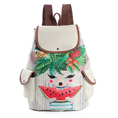Demarkt Mochila escolar para ordenador portátil, mochila vintage, mochila informal, mochila de viaje, mochila de día con patrón de panda estilo 04