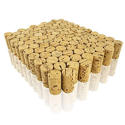 Weinkorken A74001100 Korken, Bastelkorken, Naturkorken Basteln und Dekorieren, 100 Stück, Ø 2,5cm, Länge 4,5cm, natur
