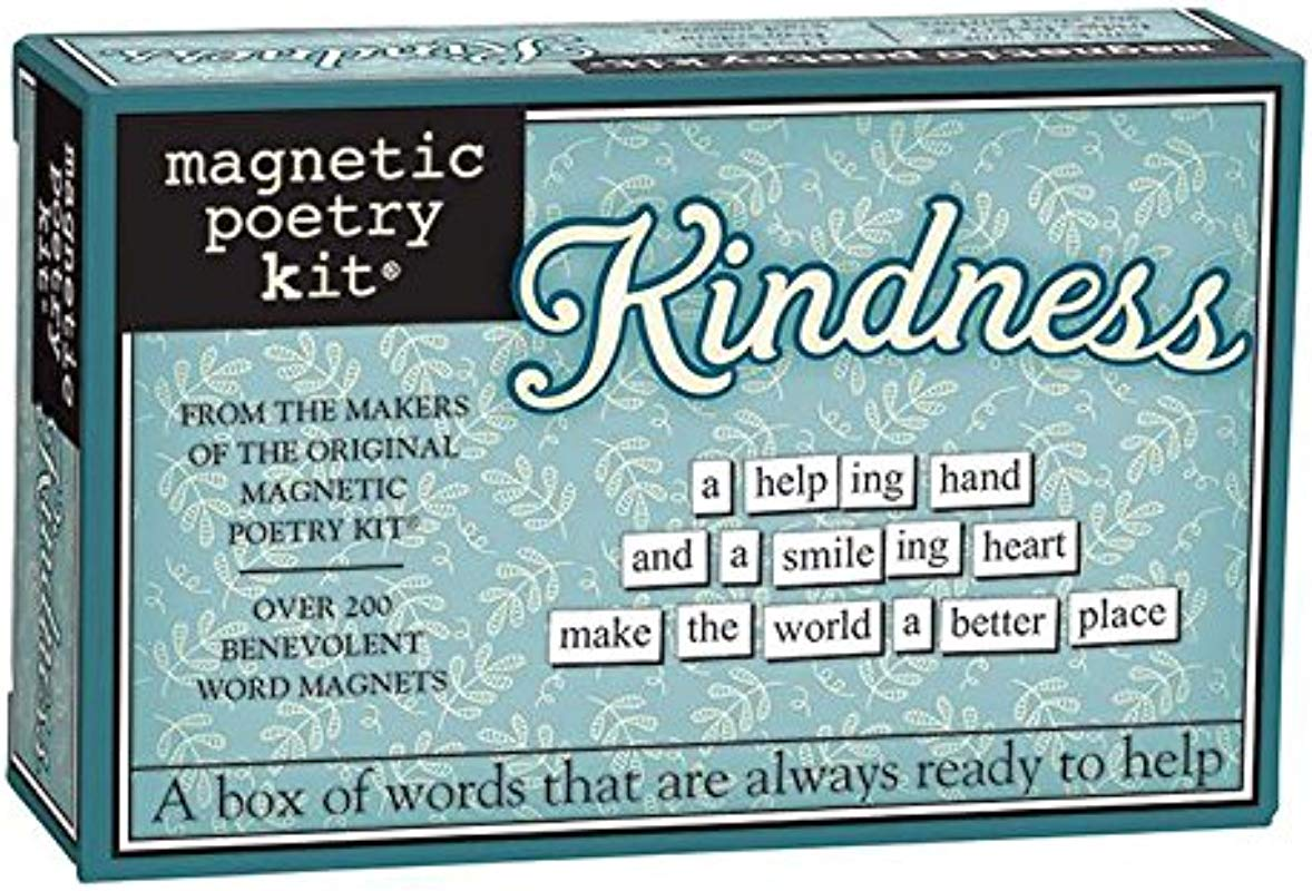 Magnetic Poetry Kindness Kit Words For Refrigerator Write Poems And Letters On The Fridge Made In The USA