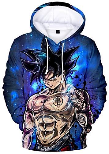 Silver Basic Dragon Ball Sweats à Capuche Enfant Garçon Sweat-Shirt Son Goku Pull Manches Longues avec Poche Kangourou 140,2509-2