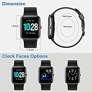 Smart Watch for Android Phones and iOS Phones Compatible iPhone Samsung, IP68 Swimming Waterproof Smartwatch Fitness Tracker Fitness Watch Heart Rate Monitor Watches for Men Women