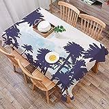 Rechteck Tischdecke140 x 200 cm,Apartment-Dekor, Miami südamerikanische Pflanze Wald Tropic natürlichen,Couchtisch Tischdecke Gartentischdecke, Mehrweg, Abwaschbar Küchentischabdeckung für Speisetisch