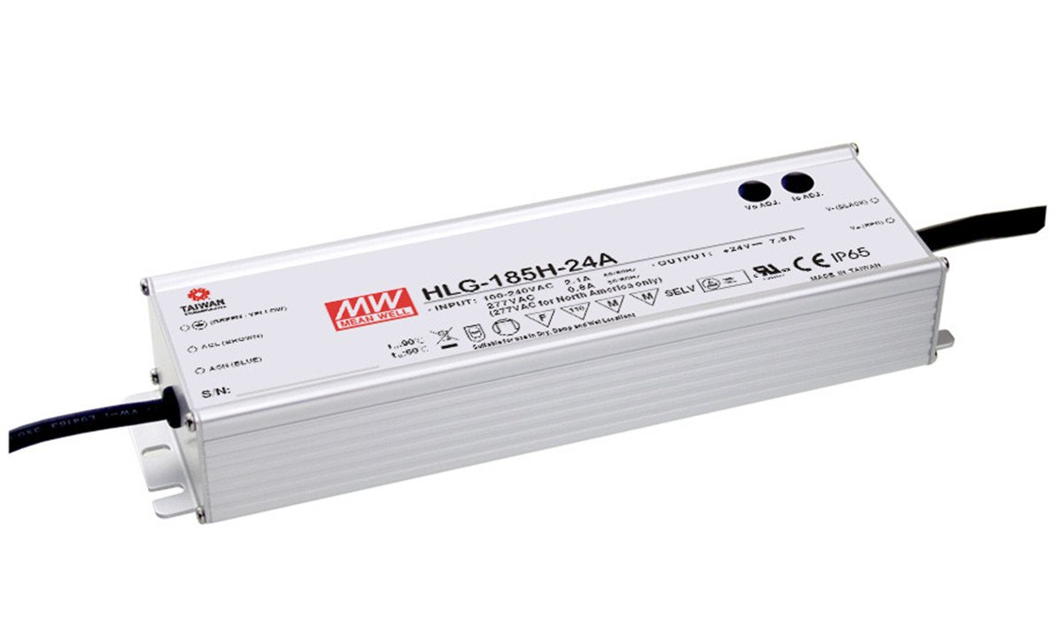 MEAN WELL HLG-185H-42A 185 W Single Output 4.4 A 42 Vdc Output Max IP65 Switching Power Supply - 1 item(s)