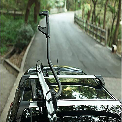 Dach-Fahrradträger für 1 Fahrräder, Nutzlast 70KG, Aluminiumlegierung, Zusammenklappbar für Auto SUV LKW