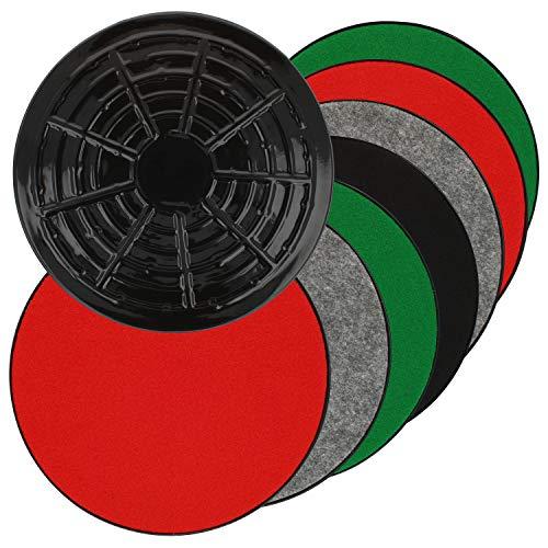 COM-FOUR® 8x onderzetters met vilt in verschillende kleuren voor vazen, bloempotten - het viltglijder beschermt tegen krassen, vocht op parket, laminaat, tegels (08 stuks)