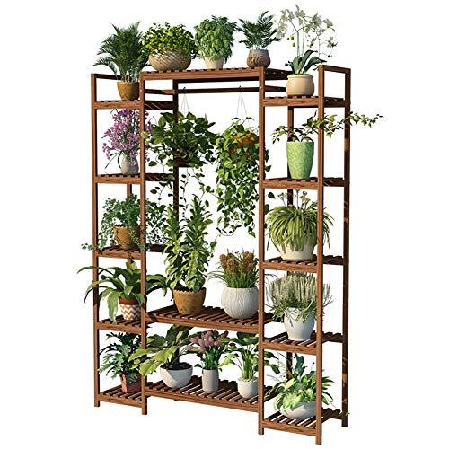 GJX-Stand de Fleurs Étagère De Fleur Support de Stockage de Plantes en Bois Massif Multi-Level Living Room Decoration