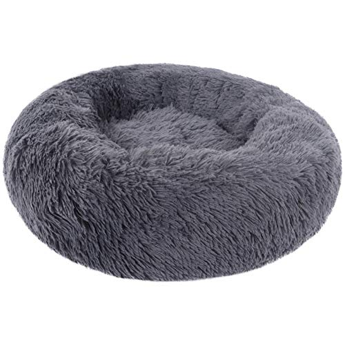 BVAGSS Cama de Felpa Deluxe Plush Redonda de Pelo Nido de Donut para Mascotas Deluxe para Gatos y Perros XH034
