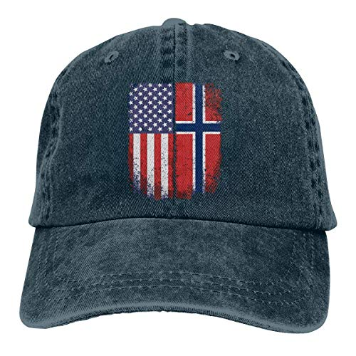 Preisvergleich Produktbild AOHOT Herren Damen Baseball Caps, Hüte,  Mützen,  Classic Baseball Cap,  Women's Men's Adjustable Baseball Cap American Norwegian Flag Dad Hat