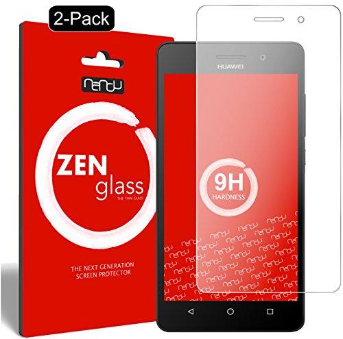 ZenGlass [2 Stück Flexible Glas-Folie kompatibel mit Huawei G Play Mini Panzerfolie I Bildschirm-Schutzfolie 9H