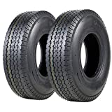VANACC 5.70-8 Trailer Tires Highway Boat Motorcycle Trailer Tires 5.70x8 Load Range C, 6PR, Set of 2