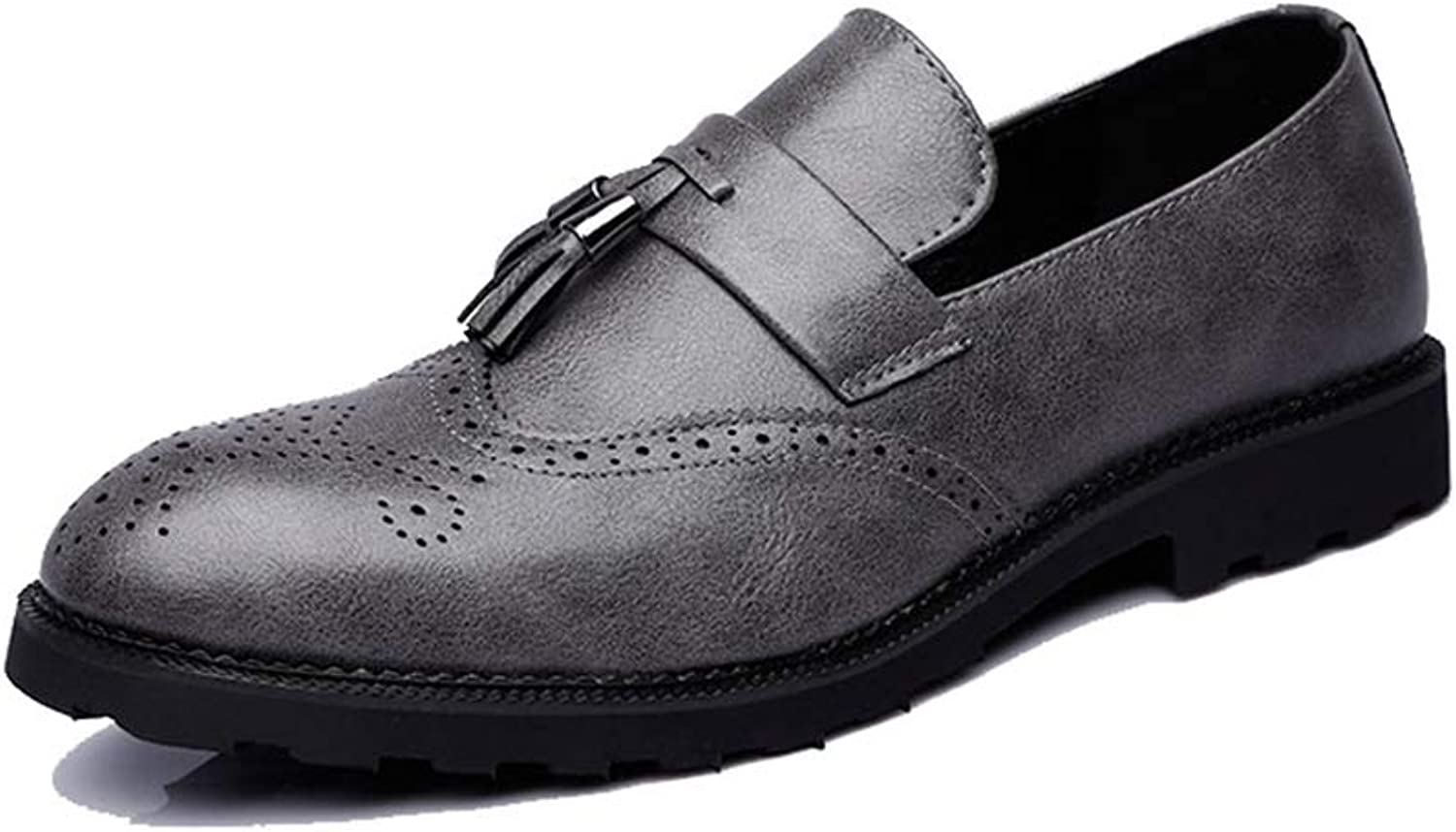 Men Formal Men's Business Dress Brogue shoes for Wedding Party Microfiber Leather Oxford shoes