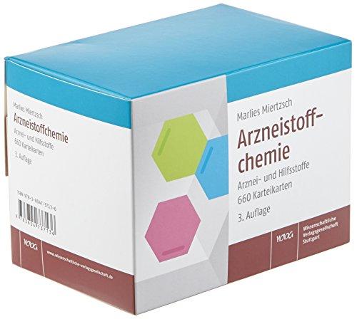 Arzneistoffchemie: Arznei- und Hilfsstoffe, 660 Karteikarten