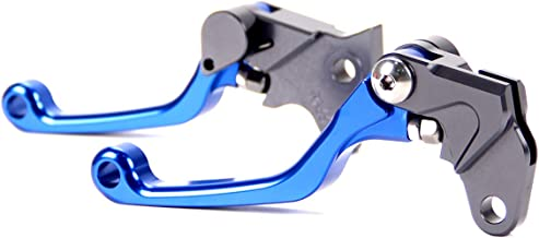 motor-mh Blue Pivot Dirt Bike Brake Clutch Levers for Yamaha TTR 125L/LE/LE 2000-2019, TTR 225 2000