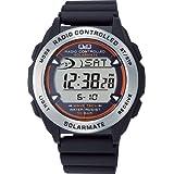 [シチズン Q&Q] 腕時計 デジタル 電波 ソーラー 防水 日付 ウレタンベルト MHS7-300 メンズ ブラック