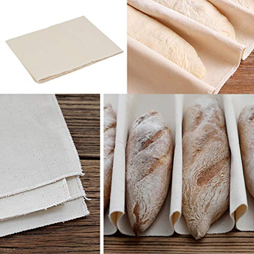 QLOUNI Professional Bakers Dough Couche Bread Proofing Cloth Natural Heavy Duty Linen Proofing Cloth for Baking French Bread Baguettes Loafs - Perfect Size (14.5 x 18 inch)