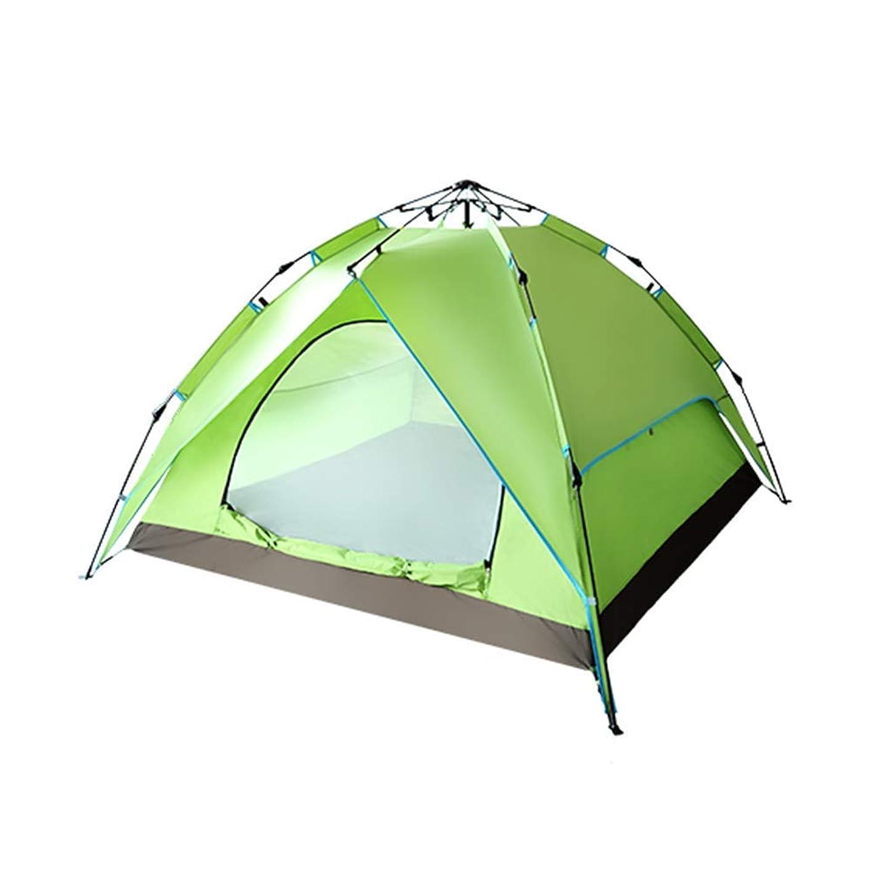 与える化学薬品ほのめかすダブルレイヤーのキャンプのテント、3-4人軽量バックパッキングテント、防水インスタント自動簡単セットアップ休日テント、ハンモックを含め、防湿マット