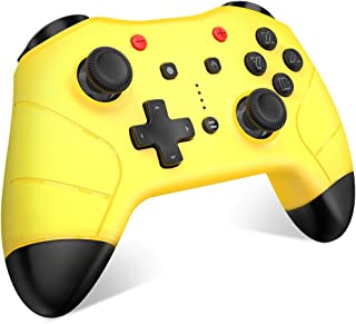 BEBONCOOL Wireless Controller for Nintendo Switch, Cute Yellow Controller Compatible with Switch lite