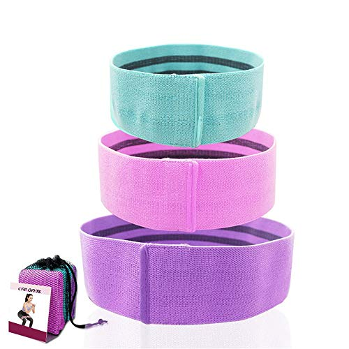 Übungs-Bänder Resistance Band Set (3 Stück) mit Netztasche for Home Fitness, Yoga, Pilates für Dehnübungen (Color : Multi-Colored, Size : Three Pack)
