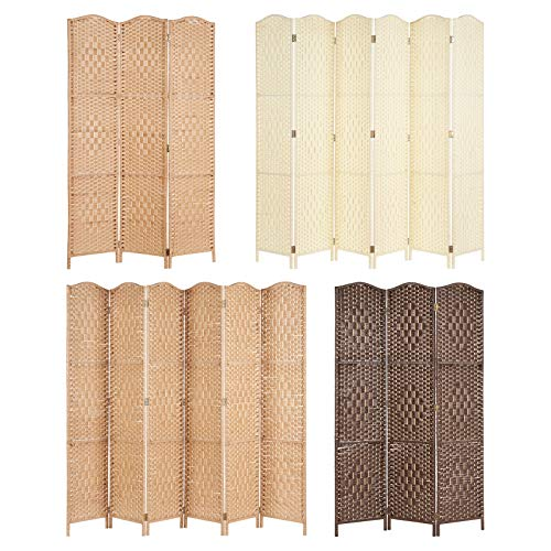Hartleys Solid Weave Hand Made Wicker Room Divider - Choice of Size and...