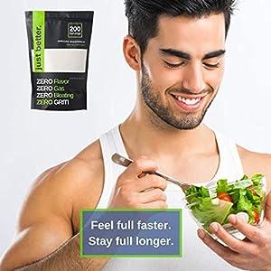 Prebiotic Fiber Supplement for a Healthy Gut | Fiber Powder with Zero Grit Zero Taste and No Bloating or Gas | Feel Full Faster | Keto Non-GMO Gluten Free Vegan 200 Servings