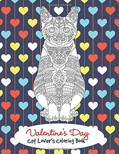 Valentine s Day Cat Lover s Coloring Book Feline Aficionados Coloring Book product image
