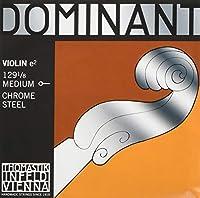 トマスティーク ヴァイオリン弦 ドミナント E線 ボールエンド1/8 ミディアムテンション クロムスチール 129