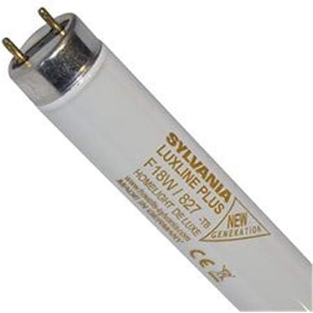 1x Sylvania 0000568 Lampe F 15W T8 G13 827 Homelight De luxe Luxline Plus Tube fluorescent 450mm 26mm Lampe fluorescente tube F15W/T8 / 827 (Mü1215)